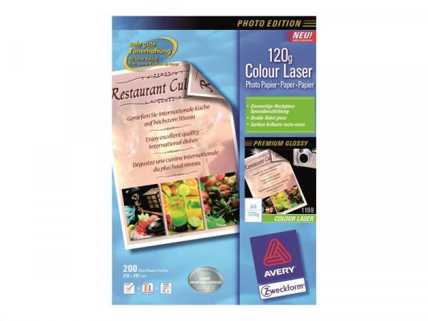 PAP Avery Zweckform A4 200x 120g Superior Laser Papier 1198