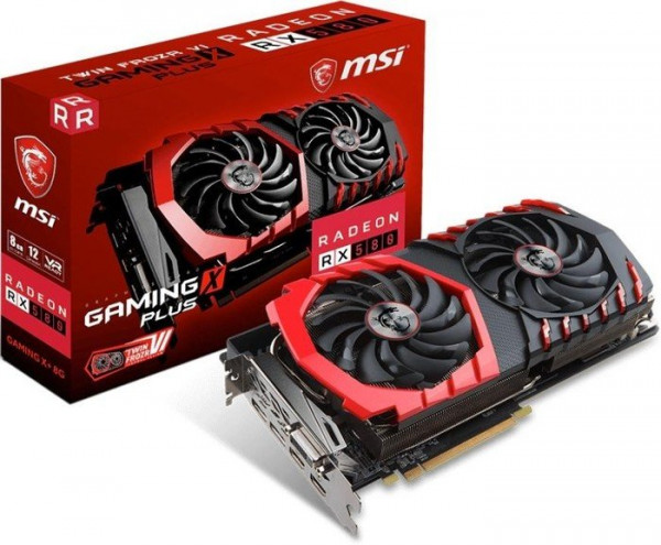 MSI Radeon RX 580 Gaming X+ 8G 8192MB,PCI-E,DVI,HDMI,DP