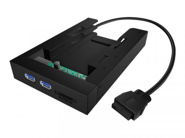 """Einbaurahmen IcyBox 2x2,5"""" HDD/SSD -> 3,5"""" Schacht retail"""