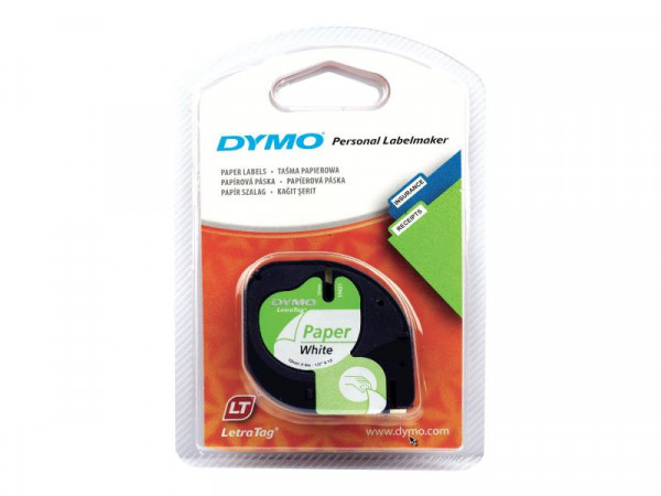 Dymo LetraTAG - Papier - weiß - Rolle (1,2 cm x 4 m) 1 Rolle(n) Band