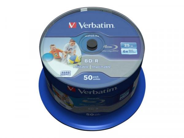BD-R Verbatim Datalife SL 6x 25GB IJP 50 Pack Spindel