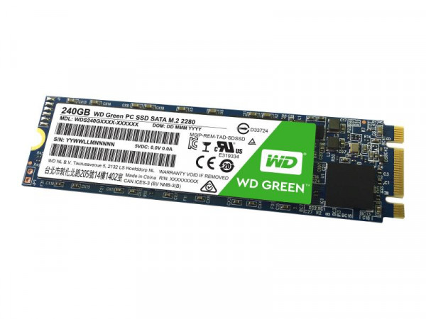 SSD 240GB WD Green M.2 (2280) SATAIII intern bulk