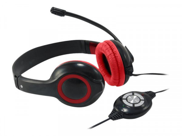 CONCEPTRONIC Headset Stereo Kabel Micro rot
