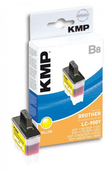 KMP Gelb - Tintenpatrone (Alternative zu: Brother LC41Y, Brother LC900Y)