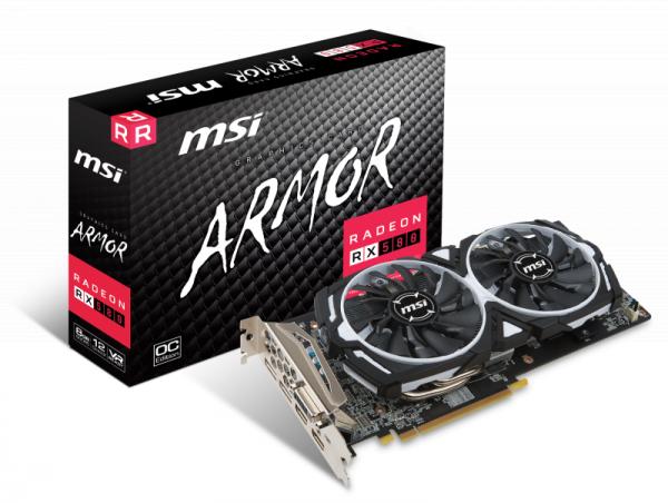 MSI RX 580 ARMOR 8G OC - Grafikkarten - Radeon RX 580