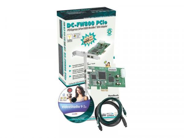 Dawicontrol PCI Card PCI-e DC-FW800 Firewire retail
