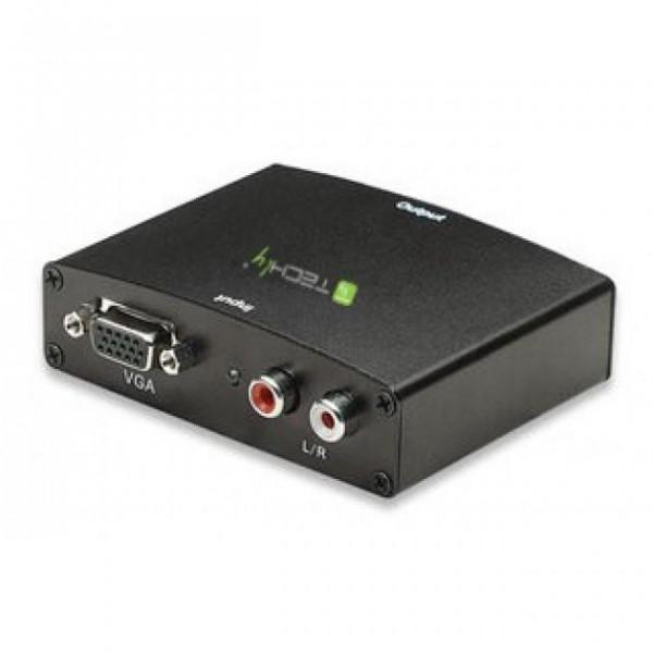Techly VGA/Audio zu HDMI Konverter