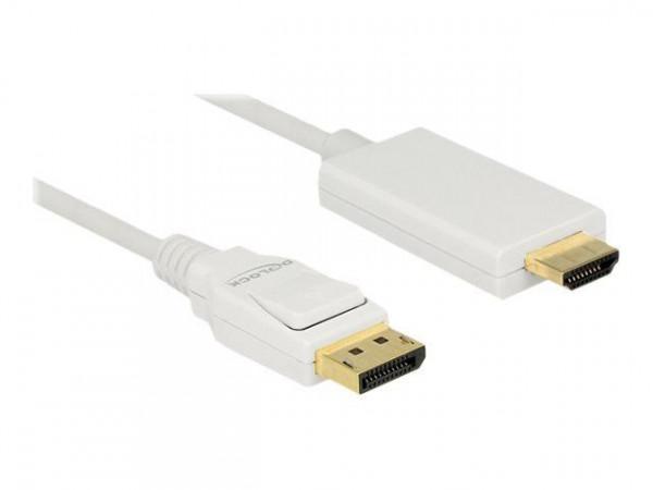 DELOCK Displayport Kabel DP -> HDMI St/St 4K 2.00m weiß
