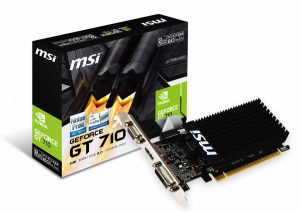 PCIe MSI GEFORCE GT 710 GT710 2GD3H LP passiv! 2GB