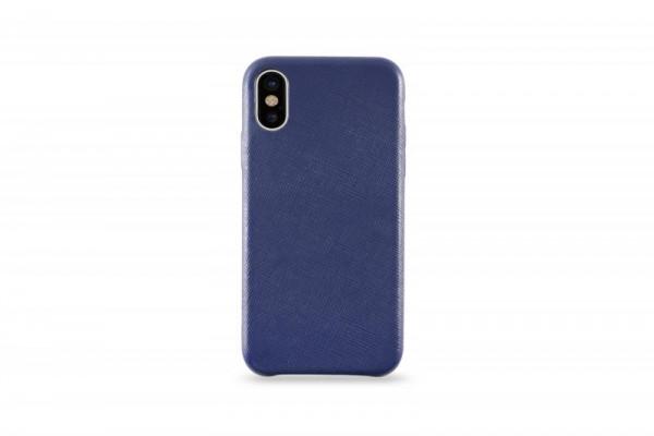 KMP Schutzhülle Apple für iPhone X Leder Case blue