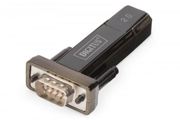 DIGITUS Adapter USB2.0/A -> seriell D-Sub9 St/St + 0.8m