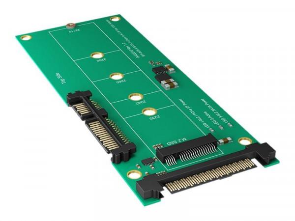 Konverter IcyBox M.2 SATA > SATA o. PCIe > U.2 IB-M2B01