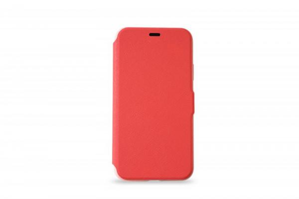 KMP Schutzhülle Apple für iPhone X Bookcase rubin red