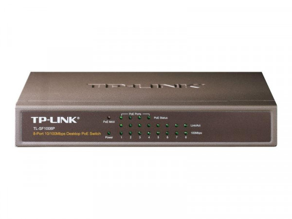 TP-LINK TL-SF1008P - Switch - 4 x 10/100 (PoE)