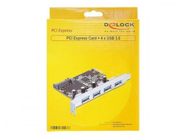 PCI Expr Card Delock 4x USB3.0 ext