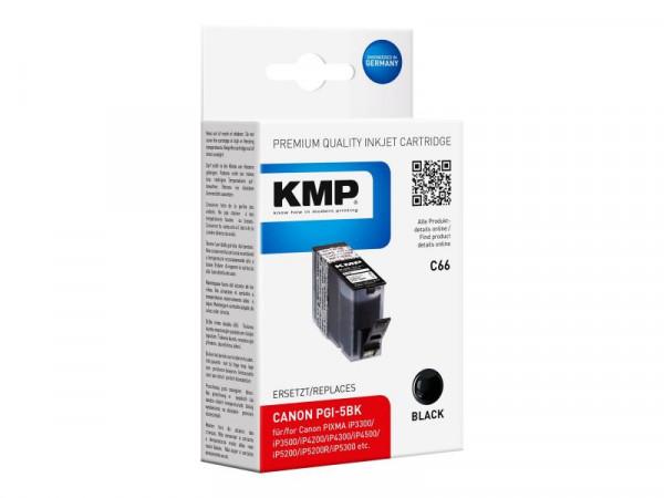 KMP Patrone Canon PGI5BK black 505 S. C66 kompatibel