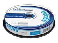 MEDIARANGE 10 x BD-R - 25 GB 6x - Spindel