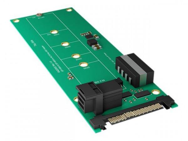 Konverter IcyBox M.2 PCIe > U.2/ Mini SAS IB-M2B02