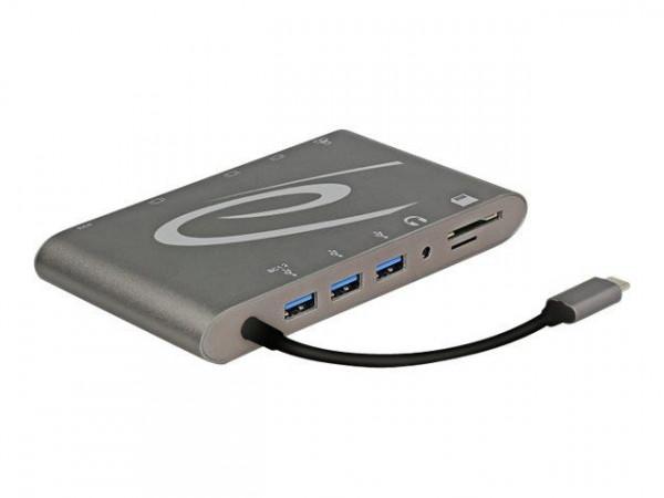 DELOCK Dockingstation USB3.1 Type-C 4K 30Hz dunkelgrau