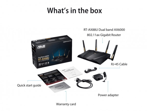 WL-Router ASUS RT-AX88U AX6000 AiMesh