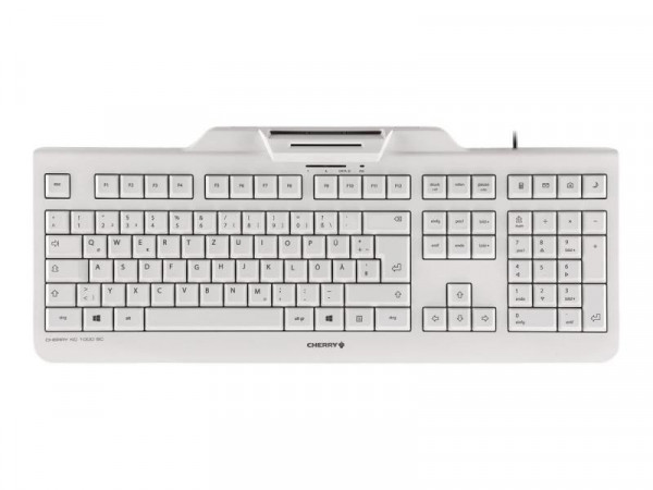 Cherry KC 1000 SC - Tastatur - Deutsch - Pale