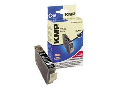 KMP C15 - 17 ml - Schwarz - Tintenpatrone (Alternative zu: Canon BCI-6Bk)