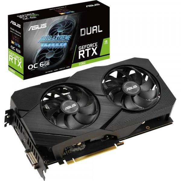 ASUS DUAL-RTX2060-O6G-EVO (6GB,DVI,HDMI,DP,Active)