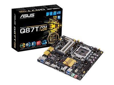 ASUS Q87T/CSM - Motherboard - Thin mini ITX - LGA1150-Sockel - Q87 - USB 3.0 - 2 x Gigabit LAN - Onb