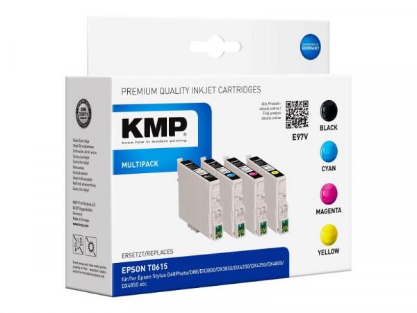 KMP MULTIPACK E97V - 4er-Pack - Schwarz, Gelb, Cyan, Magenta - Tintenpatrone (Alternative zu: Epson
