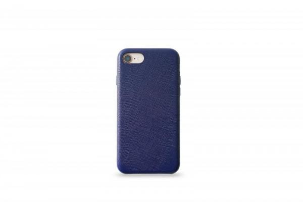 KMP Schutzhülle Apple für iPhone 8 Leder Case blue