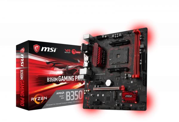 MB MSI B350M GAMING PRO         B350  AM4   mATX   Gaming MB