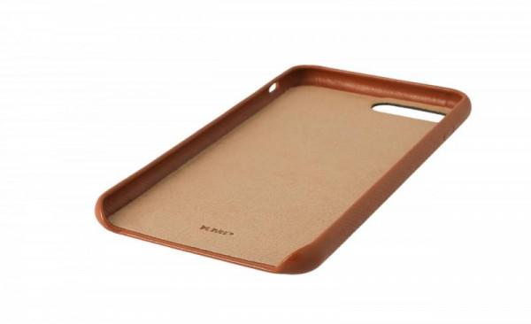 KMP Schutzhülle Apple für iPhone 8+ Leder Case brown
