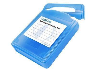 """LogiLink HDD Schutz-Box für 1x 8.9cm (3,5"""") blau wasseresist"""
