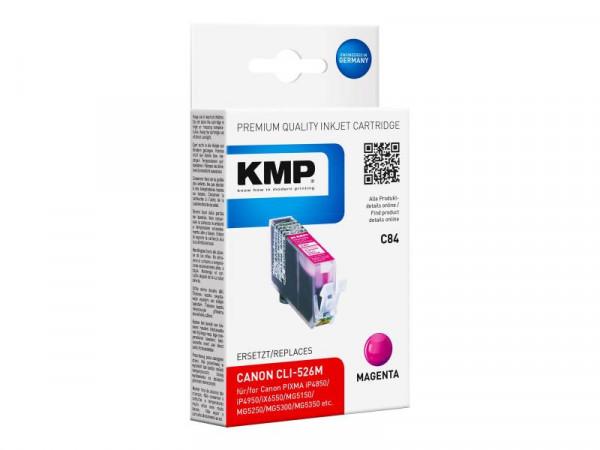 KMP Patrone Canon CLI526M magenta 450 S. C84 kompatibel