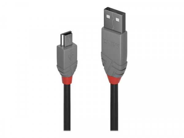 Lindy USB 2.0 Typ A an Mini-B Kabel Anthra Line 0.5m