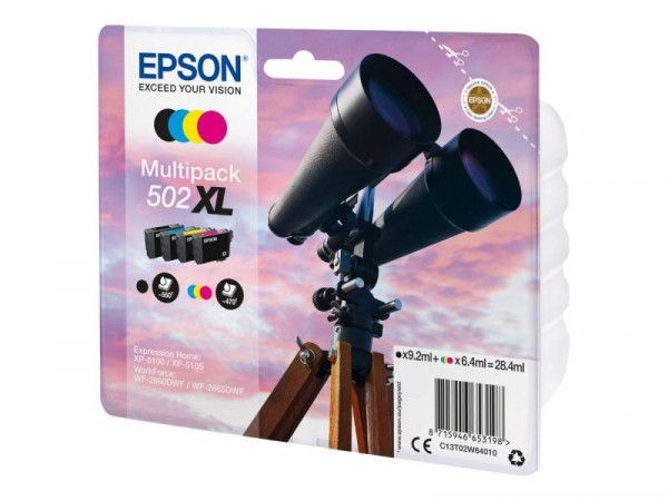 Patrone Epson 502 XL Multipack 4erPack black & Color
