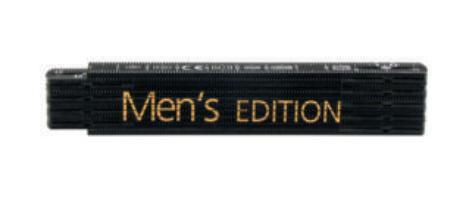 Rieffel Taschenmeter Kunststoff Swiss Made 1m Schwarz Men's