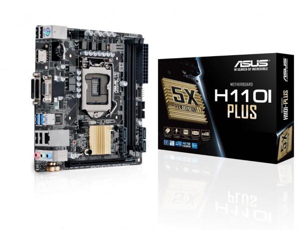 ASUS H110I-PLUS - Motherboard - Mini-ITX - LGA1151 Socket - H110 - USB 3.0 - Gigabit LAN - Onboard-G