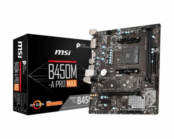 Mainboard MSI B450M-A Pro MAX (B450,AM4,mATX,DDR4,VGA,AMD)