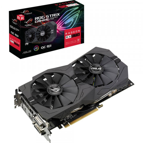 ASUS ROG-STRIX-RX570-O8G-GAMING (8GB,DVI,HDMI,DP,Active)