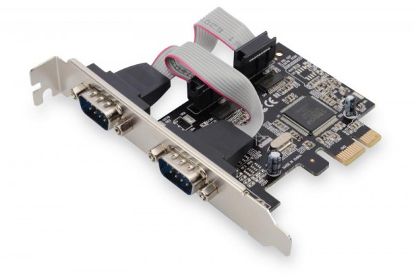DIGITUS PCI Expr Card 2x D-Sub9 seriell Ports + LowProfile