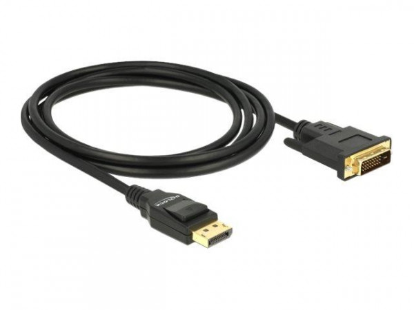 DELOCK Kabel DP 1.2 -> DVI (24+1) St/St 2.0m schwarz