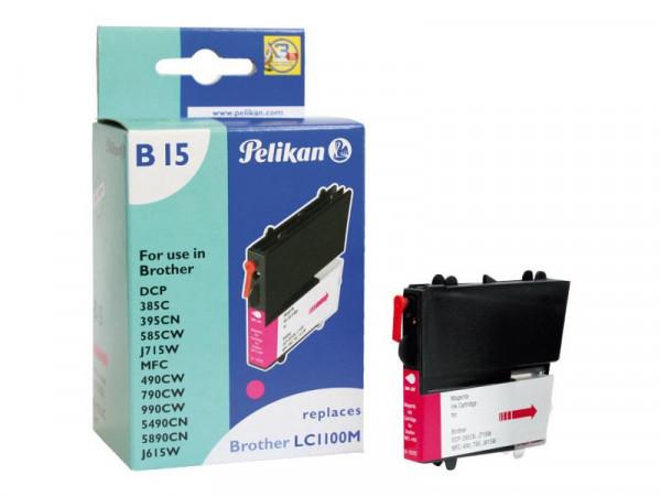 Pelikan Patrone Brother B15 LC1100 ma magenta kompatibel